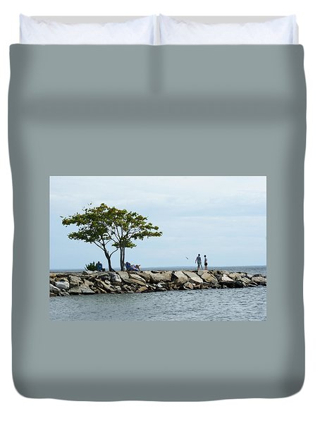 Summer On The Rocks Duvet Cover