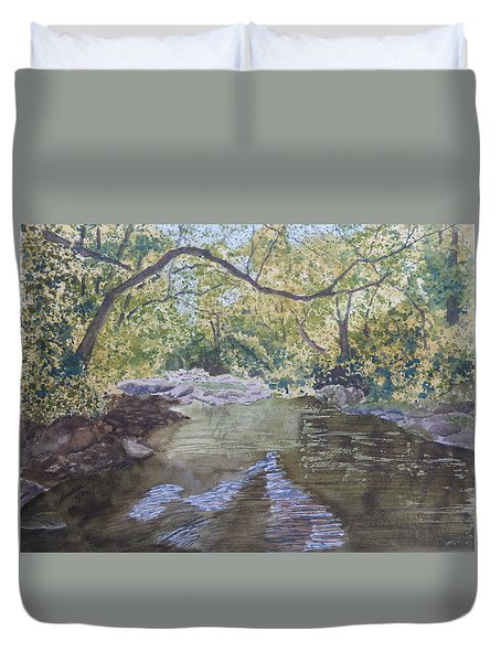 Summer On The South Tow River Duvet Cover