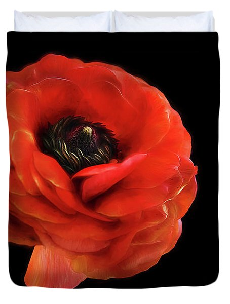 Duvet Cover featuring the photograph Summer Orange by Darren Fisher