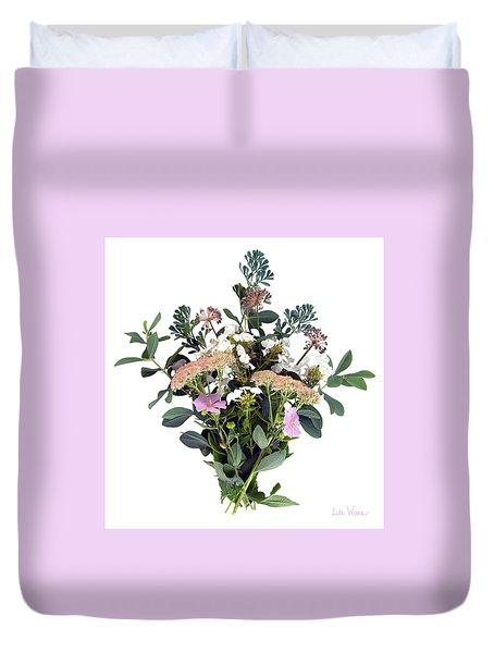 Summer Perrenials Duvet Cover