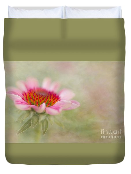 Summer Pink Echinacea Duvet Cover