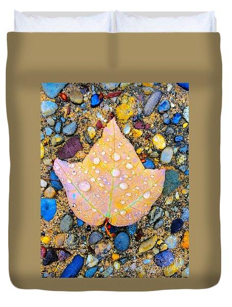Summer Rain Leaf Duvet Cover
