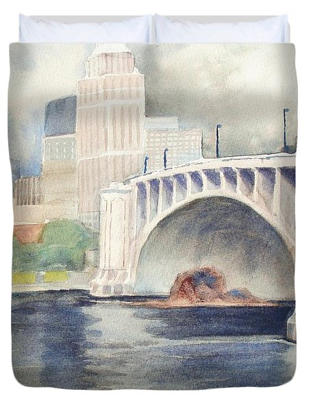 Summer Rain Duvet Cover by Marilyn Jacobson
