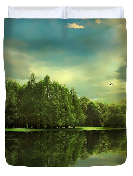 Summer Reflections Duvet Cover by Jessica Jenney