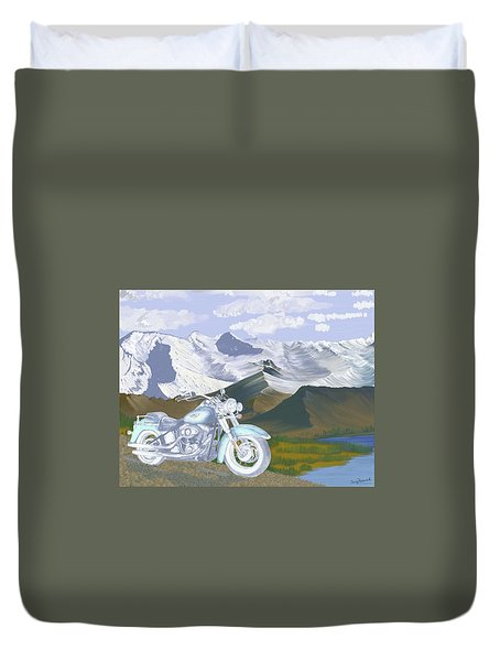 Summer Ride Duvet Cover by Terry Frederick