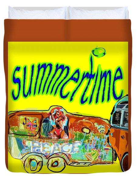 Summer Roadtrips Fun  Duvet Cover
