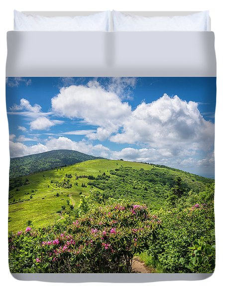 Duvet Cover featuring the photograph Summer Roan Mountain Bloom by Serge Skiba