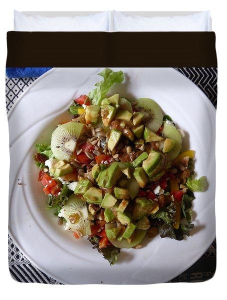 Duvet Cover featuring the photograph Summer Salad by Joel Deutsch