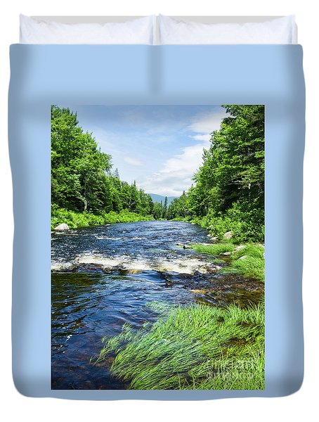 Summer Scene Rangeley Maine  -70742 Duvet Cover