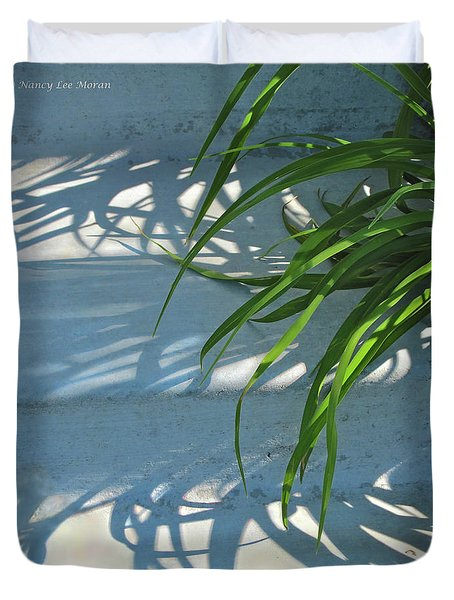 Duvet Cover featuring the photograph Summer Shadows by Nancy Lee Moran