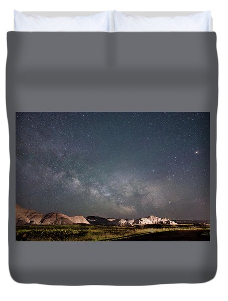Summer Sky At Badlands  Duvet Cover