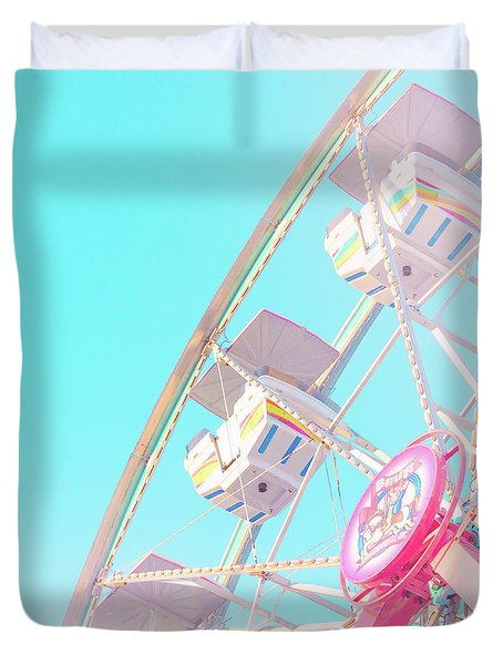 Duvet Cover featuring the photograph Summer Sky by Cindy Garber Iverson