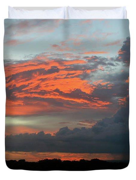 Summer Sky On Fire  Duvet Cover
