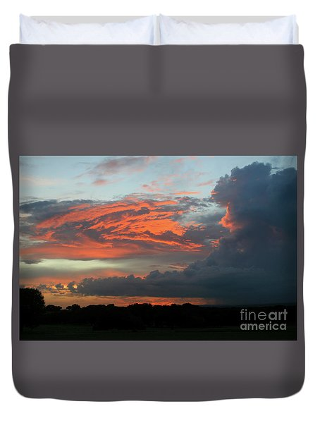 Summer Sky On Fire  Duvet Cover