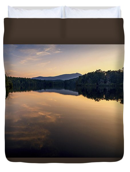 Price Lake Sunset - Blue Ridge Parkway Duvet Cover
