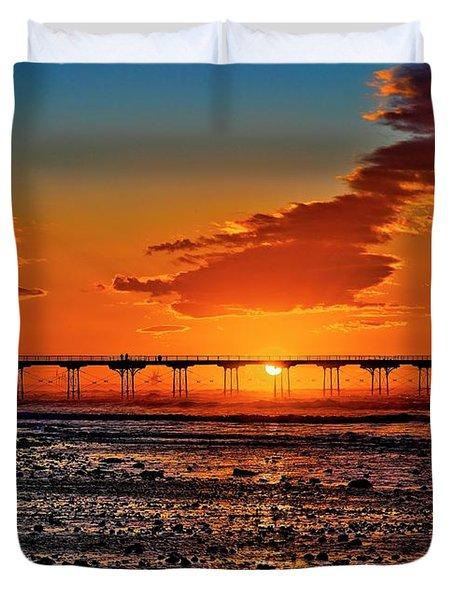 Summer Solstice Sunset Duvet Cover