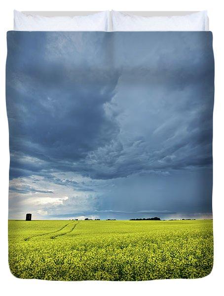 Summer Storm Over Alberta Duvet Cover