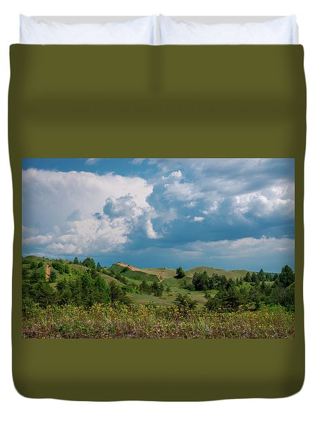 Summer Storm Over The Dunes Duvet Cover