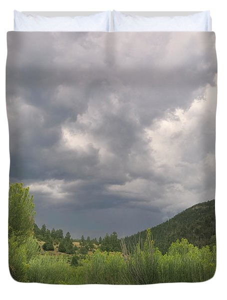 Duvet Cover featuring the photograph Summer Storm by Ron Cline