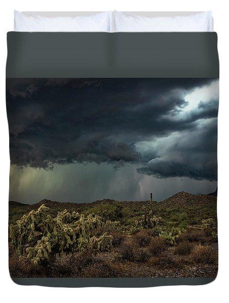 Duvet Cover featuring the photograph Summer Storm  by Saija Lehtonen