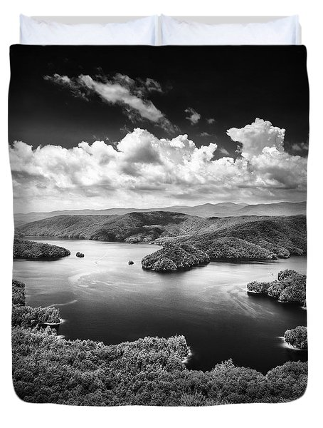 Summer Storms Over Lake Jocassee Duvet Cover