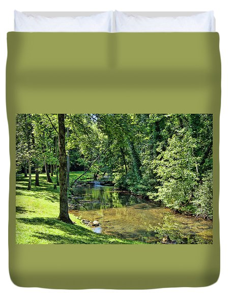 Duvet Cover featuring the photograph Summer Stream by Cricket Hackmann