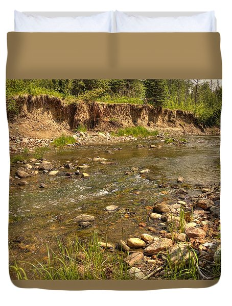 Duvet Cover featuring the photograph Summer Stream by Jim Sauchyn