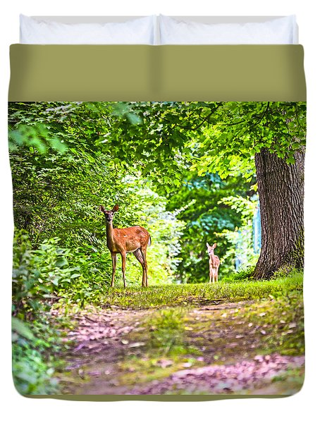 Duvet Cover featuring the photograph Summer Stroll by Anthony Baatz