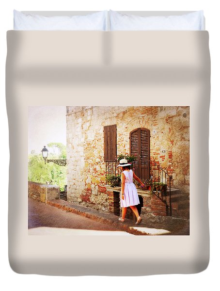 Summer Stroll Duvet Cover