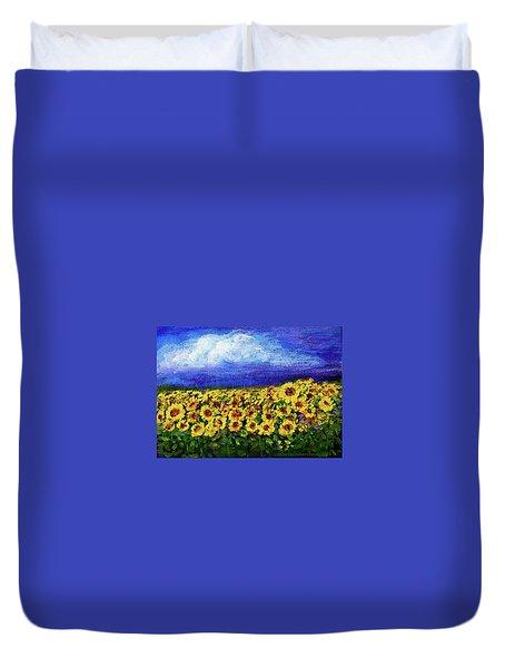 Summer Sunflowers Duvet Cover