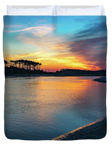 Summer Sunrise At The Inlet Duvet Cover