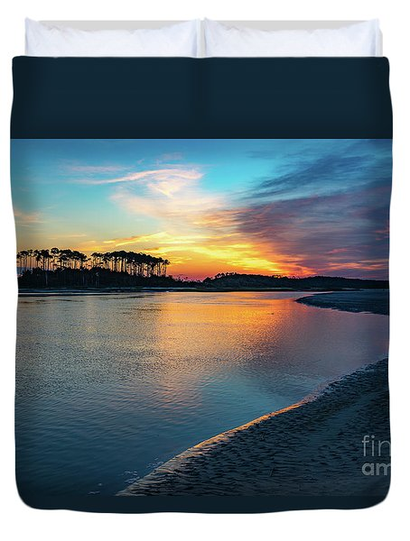 Summer Sunrise At The Inlet Duvet Cover