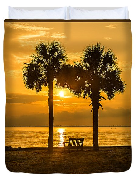 Summer Sunrise - Charleston Sc Duvet Cover