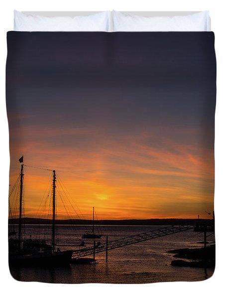 Summer Sunrise In Bar Harbor Duvet Cover