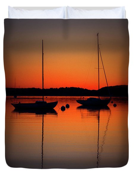 Summer Sunset Calm Anchor Duvet Cover