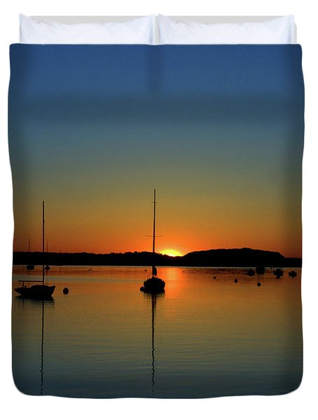 Summer Sunset Monument Beach Duvet Cover