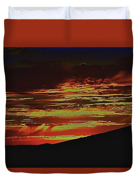 Summer Sunset Rain Duvet Cover