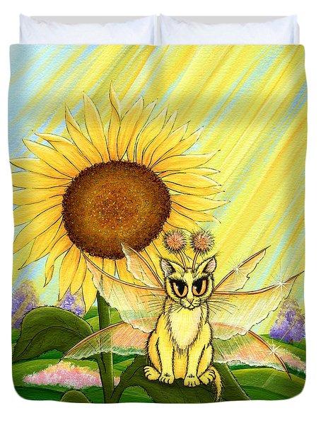 Summer Sunshine Fairy Cat Duvet Cover