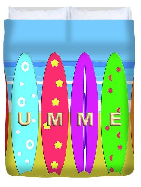 Summer Surf Duvet Cover