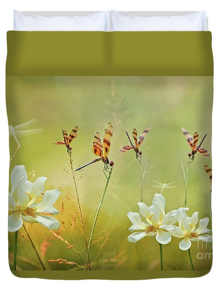 Duvet Cover featuring the photograph Summer Symphony by Bonnie Barry
