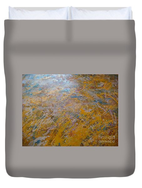 Duvet Cover featuring the painting Summer Time by Fereshteh Stoecklein