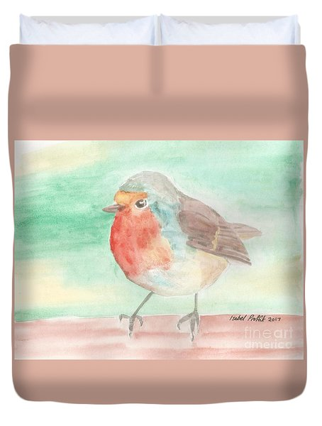 Summer Time Robin Duvet Cover by Isabel Proffit