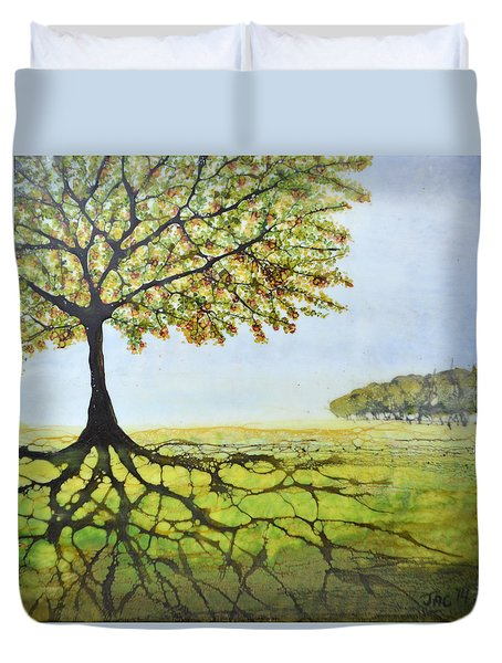 Summer Trees Duvet Cover