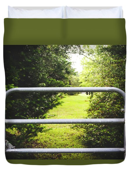 Duvet Cover featuring the photograph Summer Vibes On The Farm by Shelby Young