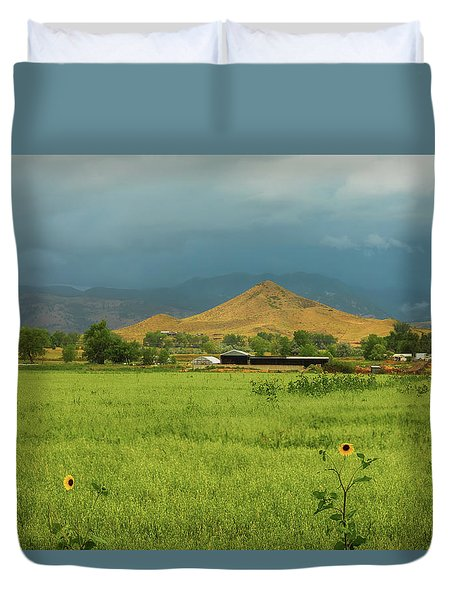 Duvet Cover featuring the photograph Summer View Of  Hay Stack Mountain by James BO Insogna