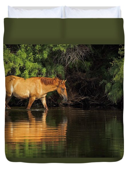 Summer Reflected Duvet Cover by Sue Cullumber