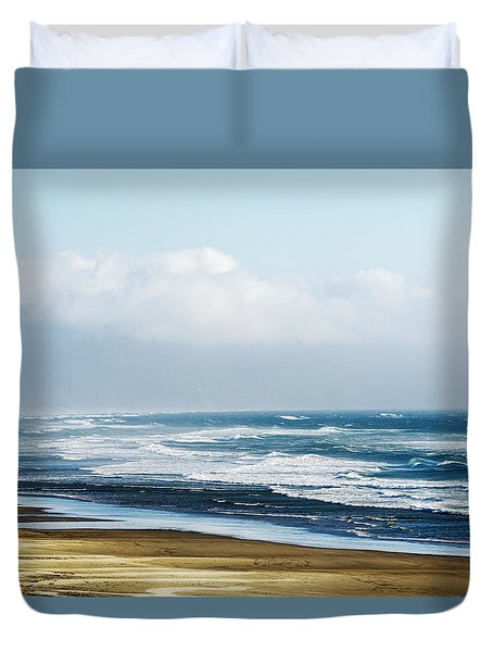 Summer Waves Netarts Oregon Duvet Cover