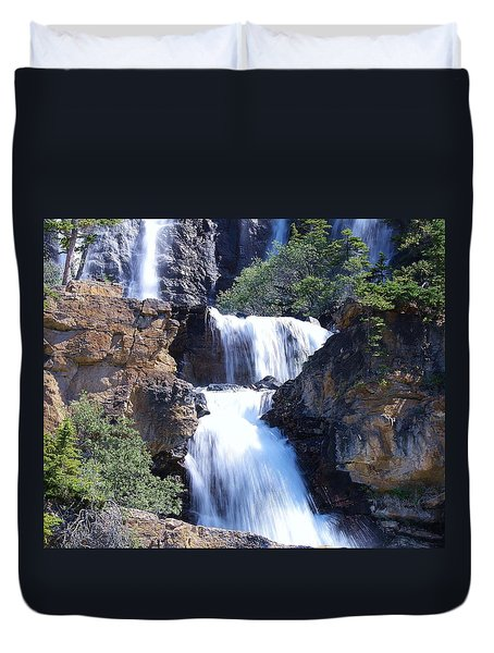 Summer White Water Duvet Cover