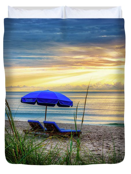 Duvet Cover featuring the photograph Summer's Calling by Debra and Dave Vanderlaan