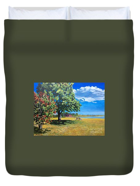 Summer's End In Biddeford At Biddeford  Pool Duvet Cover
